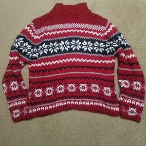 Sonoma Red & Black Sweater - great for holidays!